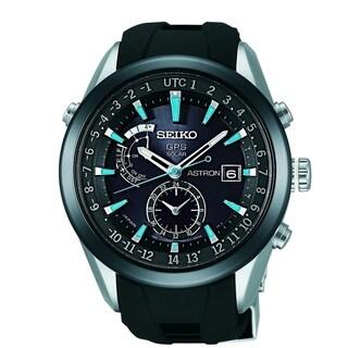 Seiko Men's SAST009 'Astron GPS Solar Limited Edition' Two-Tone Silicone Watch
