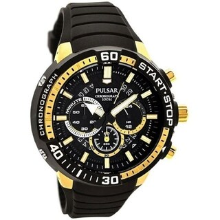 Pulsar Men's PT3550 Chronograph Black Silicone Watch