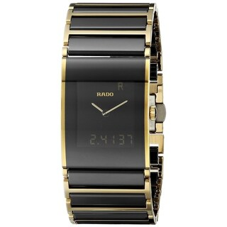 Rado Men's 'Integral' Analog-Digital Two-Tone Stainless steel and Ceramic Watch