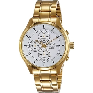 Link to Seiko Men's  Chronograph Gold Tone Stainless Steel Watch Similar Items in Men's Watches