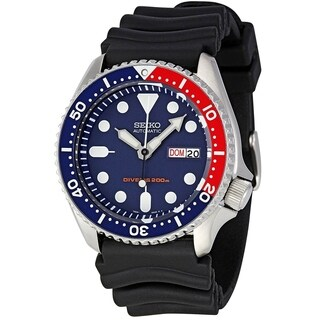 Seiko Men's SKX009K1 'Diver' Automatic Black Rubber Watch