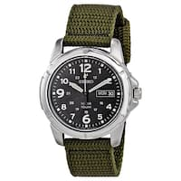 Seiko Men's SNE095P2 'Solar' Green Nylon Watch