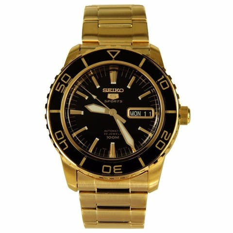 Seiko Men's SNZH60 '5' Automatic Gold Tone Stainless Steel Watch