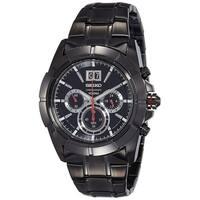 Seiko Men's SPC103 Chronograph Black Stainless Steel Watch