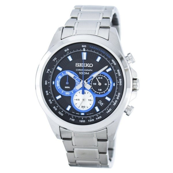Seiko Men's Chronograph Stainless Steel Watch. Opens flyout.