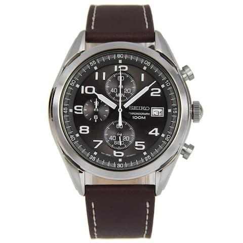 Seiko Men's SSB275 Chronograph Brown Leather Watch