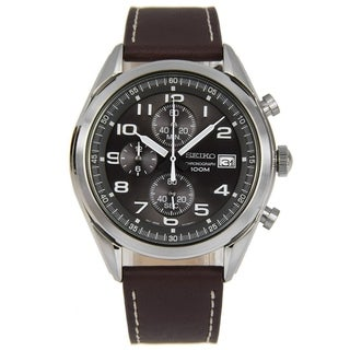 Link to Seiko Men's SSB275 Chronograph Brown Leather Watch Similar Items in Men's Watches