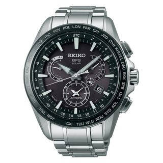 Link to Seiko Men's SSE077 'Astron GPS Solar' Chronograph World Time Stainless Steel Watch Similar Items in Men's Watches
