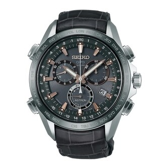 Link to Seiko Men's  'Astron' GPS Solar Chronograph Brown Leather Watch Similar Items in Men's Watches
