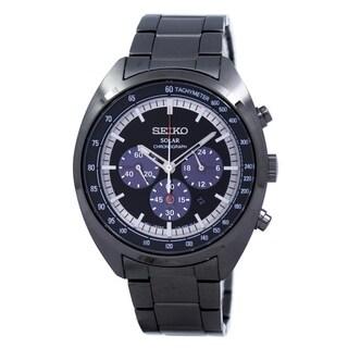 Seiko Men's SSC623 'Solar' Chronograph Black Stainless Steel Watch