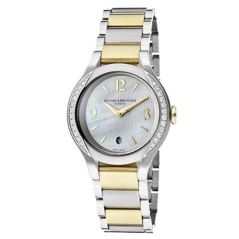 Baume & Mercier Women's 'Ilea' Diamond Two-Tone Stainless Steel Watch
