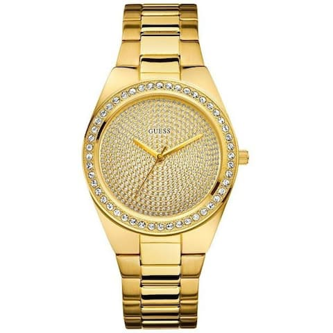 Guess Women's 'Pixie' Crystal Gold-Tone Stainless Steel Watch