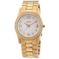 DKNY Women's  Crystal Rose-Tone Stainless Steel Watch