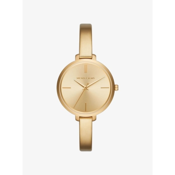5bbf4e73fc28 Shop Michael Kors Women s  Jaryn  Gold-Tone Stainless Steel Watch - Free  Shipping Today - Overstock - 20904559