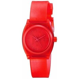 Nixon Women's 'Small Time Teller' Red Polyurethane Watch