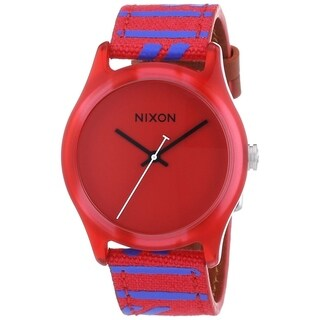 Nixon Women's 'Mod' Red Nylon and Leather Watch