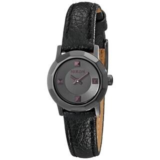 Nixon Women's 'Mini B' Black Leather Watch