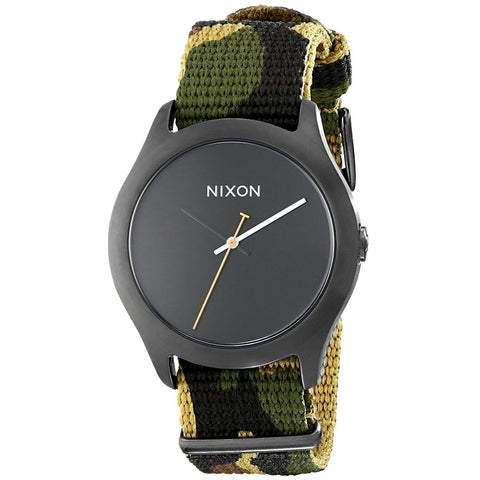 Nixon Women's 'Mod' Camouflage Nylon Watch