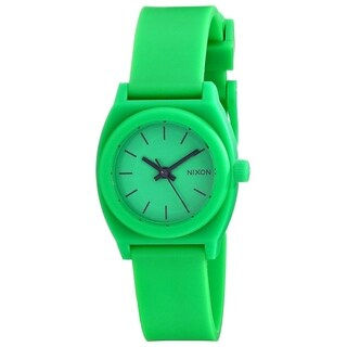 Nixon Women's 'Small Time Teller' Green Polyurethane Watch
