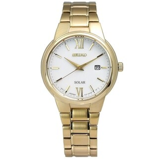 Seiko Women's SUT232 'Solar' Gold Tone Stainless Steel Watch