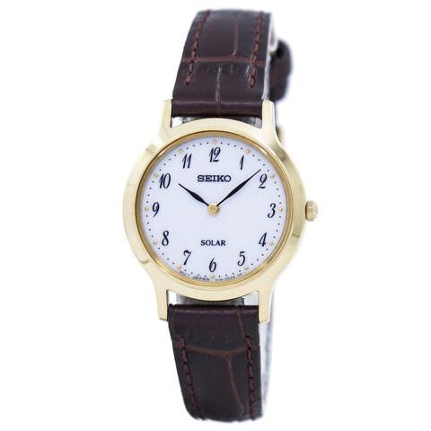 Seiko Women's 'Solar' Brown Leather Watch