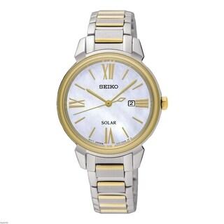 Seiko Women's 'Solar' Two-Tone Stainless Steel Watch