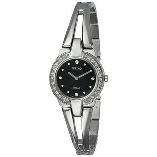 Seiko Women's SUP205 'Solar' Crystal Stainless Steel Watch