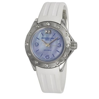 Raymond Weil Women's 'Spirit' Diamond White Rubber Watch