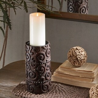 INK IVY Pacheco Brown Candle Holder - Large