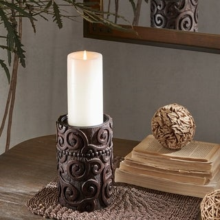 INK IVY Pacheco Brown Candle Holder - Medium