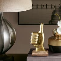 Madison Park Thumbs Up Gold Decor