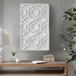 Carson Carrington Voru White Wooden Wall Art