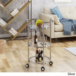 Sula Modern Glass Bar Cart by Christopher Knight Home