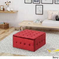 Judson Glam Tufted Velvet Ottoman by Christopher Knight Home