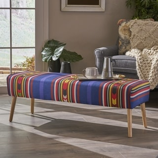 Safire Mid Century Boho Fabric Ottoman by Christopher Knight Home