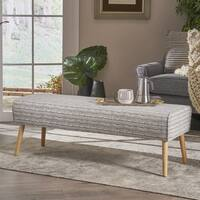 Shop Williams Tufted Fabric Ottoman Bench By Christopher