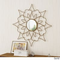 Lorcan Flower Wall Mirror by Christopher Knight Home