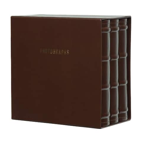 Premium Leather Photo Albums, Holds 180 4x6 Photos, Set of 3