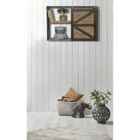 Farmhouse Sliding Barn Door Storage Cabinet Shelf