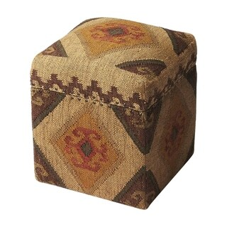 Offex Transitional Square Jute Storage Cube - Multicolor