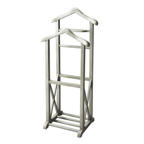 Offex Transitional Wooden Valet Stand - Gray