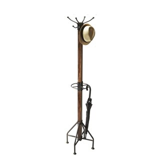 Offex Transitional Solid Wood Rustic Costumer Rack
