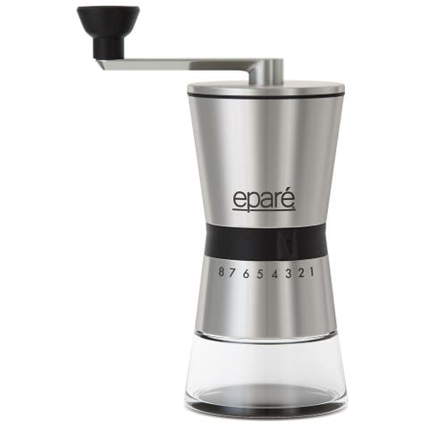 Epare Manual Coffee Grinder, Conical Ceramic Burr Mill - 15 Settings