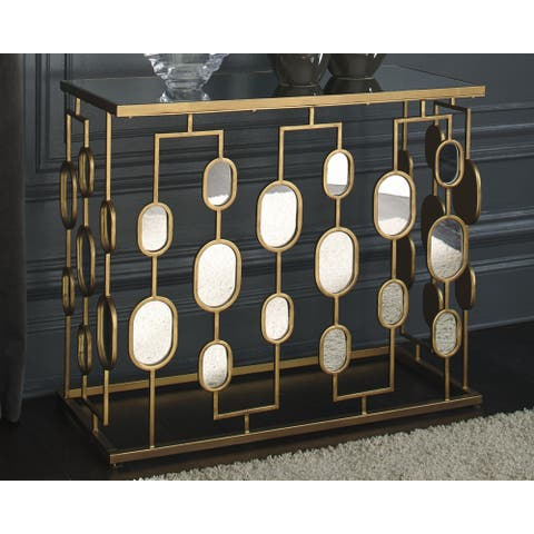 Majaci Gold Contemporary Console