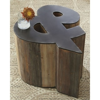 Highmender Brown/Black Letter Accent Table
