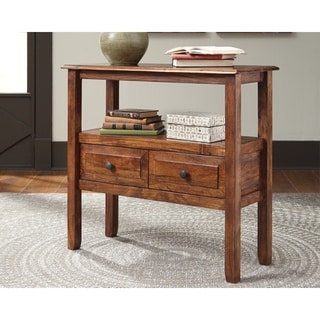 Abbonto Casual Warm Brown Accent Table