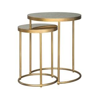 Majaci Goldtone Contemporary Nesting Tables, Set of 2