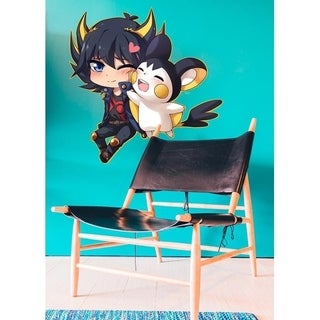 "Anime Boy Mouse Full Color Wall Decal Sticker K-391 FRST Size 22""x27"""