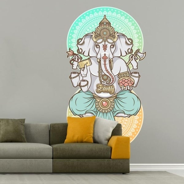 shop india gunesha full color wall decal sticker k-421 frst size 20