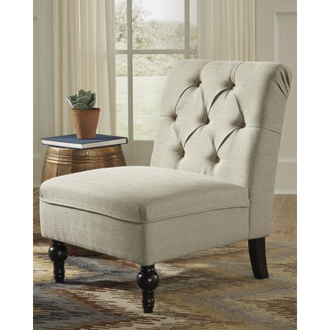 Degas Traditional Beige Accent Chair